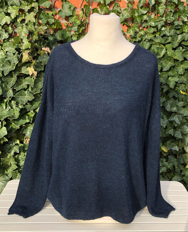 Alpaka Oversized-Pullover - blue chine Gr. XL